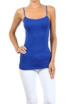 ICONOFLASH Women's Everyday Solid Color Thin Strap Camisole (Cobalt Blue, One... - $7.91