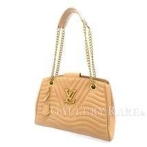 LOUIS VUITTON New Wave Chain Tote Leather Noisette Shoulder Bag M53900 A... - $2,249.92