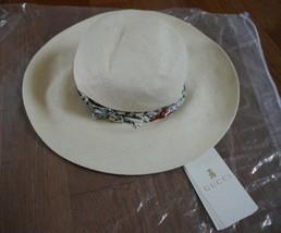 Nwt 100% Gucci Girl's Straw Hat With Flora Infinity Trim 311169 Sz S $290 - $143.55