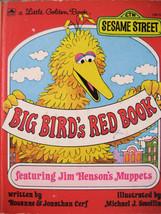 Little Golden Book, Big Bird's Red Book 1970s Sesame Street Jim Henderso... - $5.38