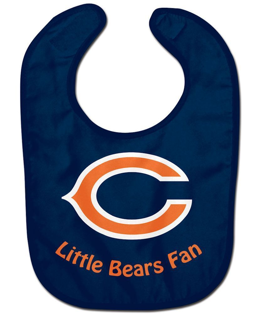 CHICAGO BEARS ALL PRO BABY BIB VELCRO CLOSURE TEAM LOGO NFL FOOTBALL