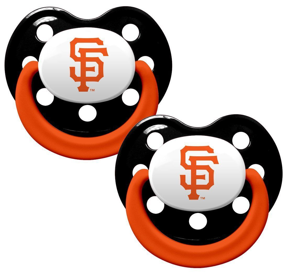 SAN FRANCISCO GIANTS 2-PACK BABY INFANT ORTHODONTIC PACIFIER SET MLB BASEBALL