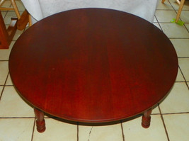 Mid Century Round Cherry Coffee Table by O'Hearn - $499.00
