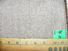 Brown Tan Tweed Print Nylon Upholstery Fabric  1 Yard  R188 - $29.95
