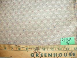 Tan Shell Print Damask Upholstery Fabric  1 Yard  R217 - $29.95