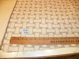 Beige Taupe Abstract Print Nylon Fabric / Upholstery Fabric  1 Yard  R56 - $29.95