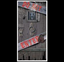Spooky Halloween DUNGEON DOOR COVER-DO NOT ENTER Party Prop Building Dec... - $7.89