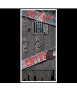 Spooky Halloween DUNGEON DOOR COVER-DO NOT ENTER Party Prop Building Dec... - $7.89