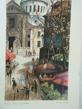Paris Montmatre Ortiz Alfau Signed Print (Place Du Gentre) - $44.10