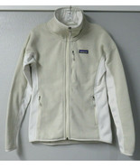 Womens Patagonia Better Sweater Fleece Jacket Cream Small S Brown White ... - $59.39