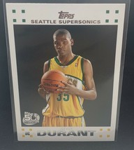 KEVIN DURANT 2007/08 Topps #2 White RC ROOKIE Card SuperSonics CENTERED - $133.64