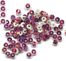 HOLOGRAM Spangles SEQUINS Hot Fix ROSE  3mm 1 gross - $4.99