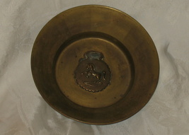 Vintage English Brass Bowl Dish 1940's - $49.95