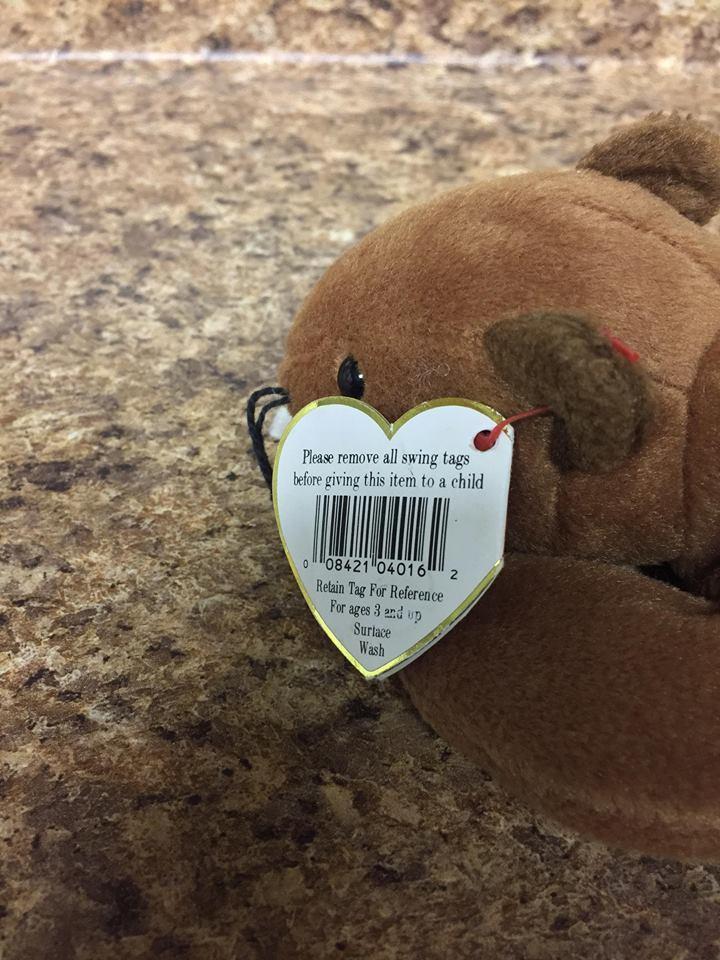 "Ty Beanie Baby ""Bucky"" Beaver Plush Stuffed Animal"