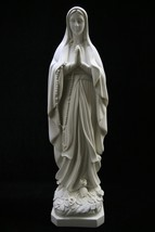 Our Lady of Lourdes Virgin Mary Catholic Statue Religious Figurine Made in Italy - $139.95
