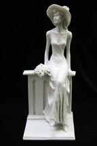 Sexy Elegant Woman Sitting by a Wall Italian Statue Figurine Sculpture I... - $59.95