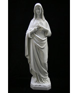 "25"" Immaculate Heart of Mary Blessed Mother White Statue Sculpture Made in Italy - $109.95"