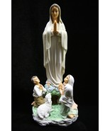 Our Lady of Fatima Pilgrim Virgin Mary with Children Catholic Statue Religious - $79.95