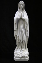 Our Lady of Lourdes Virgin Mary Italian Statue Religious Vittoria Made in Italy - $99.95