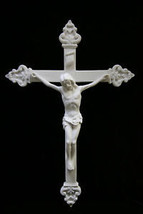 Large Jesus Christ on the Baroque Wall Cross Statue Vittoria Collection Italy - $109.95