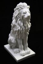 "15"" Sitting Aggressive Lion Italian Statue Sculpture Vittoria Made in Italy - $159.95"