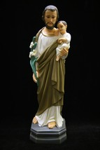 "16"" Saint Joseph Baby Jesus Holy Child Italian Catholic Statue Made in I... - $89.95"