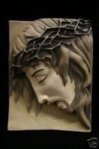Jesus Christ Lord Catholic Plate Plaque Statue Sculpture Vittoria Made in Italy - $79.95