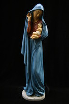 Large Virgin Mary Mother and Jesus Italian Statue Sculpture Catholic Made Italy - $129.95