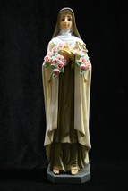 "Saint St Therese Little Roses Flower Religious Catholic 11"" Statue Made ... - $69.95"