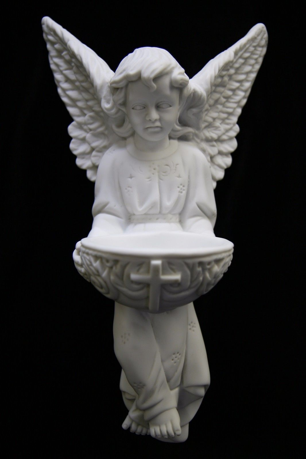 Primary image for Angel Holding Holy Water Font Italian Catholic Statue Sculpture Made in Italys
