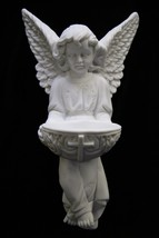 Angel Holding Holy Water Font Italian Catholic Statue Sculpture Made in ... - $69.95