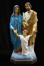 "15"" Holy Family Saint Joseph Baby Child Jesus Mary Catholic Statue Sculpture  - $139.94"