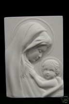 Virgin Mary and Jesus Wall Plate Plaque Italian Statue Vittoria Made in Italy - $59.95