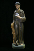 Saint St Francis of Assisi Italian Statue Sculpture Figurine Catholic Made Italy - $59.95