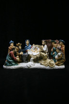 Christmas Nativity Scene Joseph Mary Jesus Italian Statue Vittoria Made in Italy - $99.95