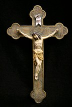 Crucifixion of Jesus Christ Catholic Statue Wall Plate Plaque Made in Italy - $39.95