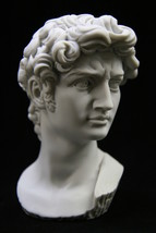 Bust of David Nude Italian Statue Sculpture Michelangelo Vittoria Made i... - $44.95