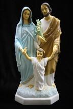 "15"" Holy Family saint Joseph Jesus Mary Mother Italian Catholic Statue Sculpture - $139.94"