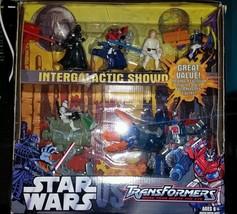 Star Wars Transformers Attacktix Battle Figure Game Set Intergalactic Showd - $63.04