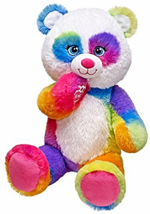 Build a Bear Pop of Color Rainbow Panda Teddy 1... - $89.99
