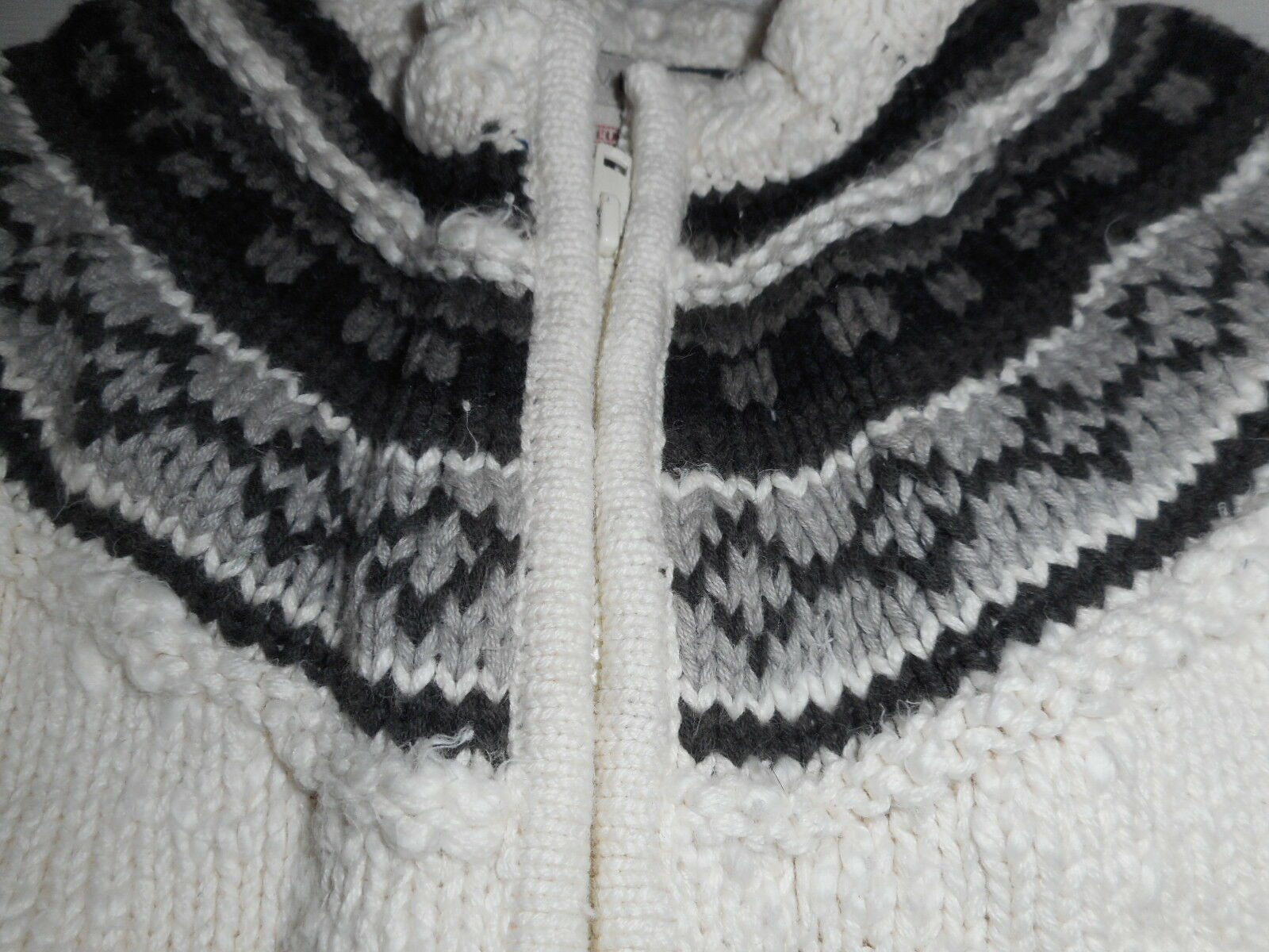Cute H&M LOGG zip front sweater fair isle pattern 6-9 months