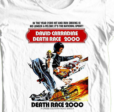 Death Race 2000 T shirt retro 70's movie cotton graphic tee S-3XL 4XL 5XL