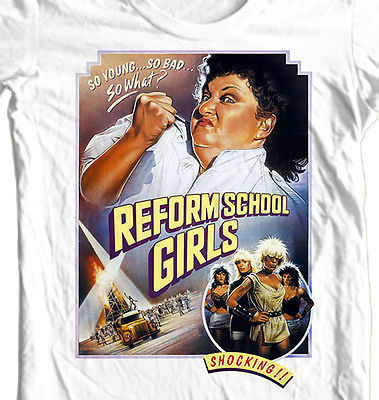 Reform School Girls T-shirt retro cult punk film classic 80's cotton graphic tee
