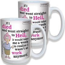(Set/2) Aunty Acid Work Is Like Hell Coffee Mug Hilarious Office Cup 16-oz - $21.97
