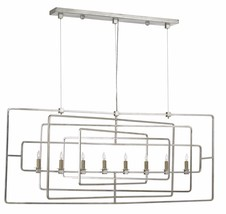 CURREY & CO COMPANY 9836 Metro Rectangular Chandelier, WROUGHT IRON, Mid... - £1,479.72 GBP