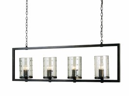 CURREY & CO COMPANY 9742 Longhope Rectangular Chandelier, WROUGHT IRON &... - £1,464.06 GBP