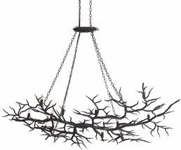 CURREY & CO COMPANY 9007 14 Light Rainforest Chandelier, FORGED IRON, Or... - £2,051.25 GBP