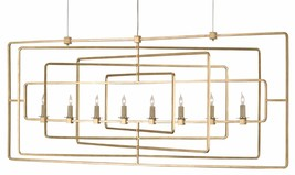 CURREY & CO COMPANY 9542 Metro Rectangular Chandelier, WROUGHT IRON, Mid... - £1,479.72 GBP