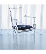 LUCITE ARM CHAIR, Modern Louis, BLUE Mohair Sea... - $6,247.50
