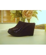 Castaner Brown Patent Leather  Espadrilles Size 10  - $59.00